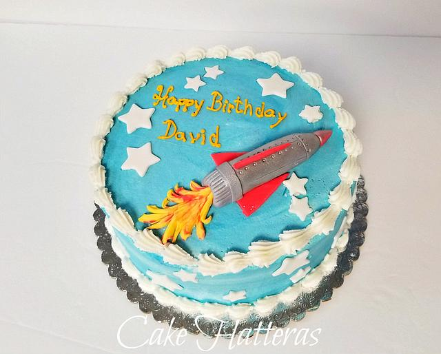 Groovy Rocket Ship Birthday Cake Cake By Donna Tokazowski Cakesdecor Funny Birthday Cards Online Elaedamsfinfo