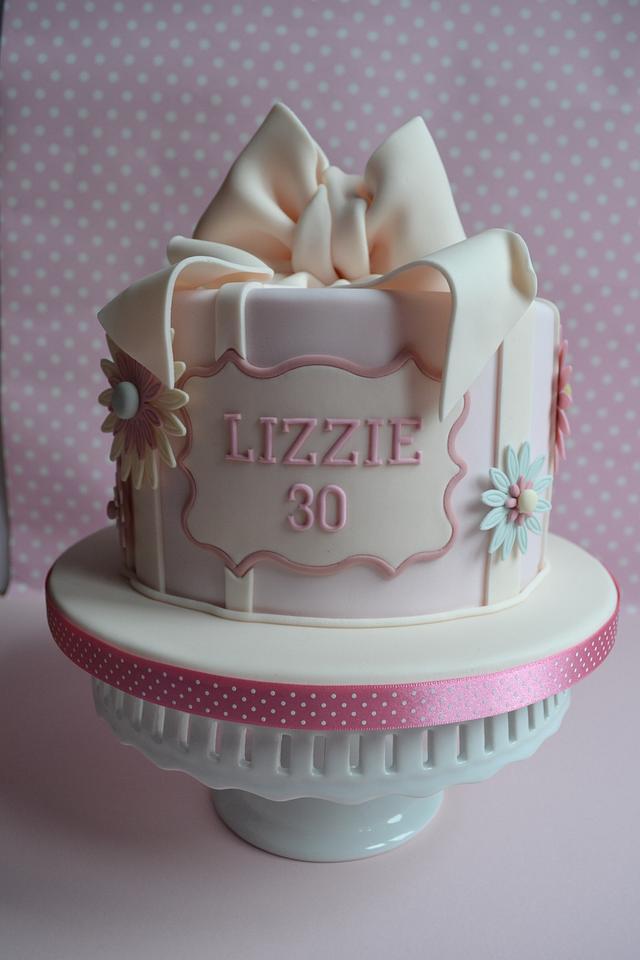 Tremendous Vintage Style 30Th Birthday Cake By Amae The Cake Cakesdecor Funny Birthday Cards Online Fluifree Goldxyz