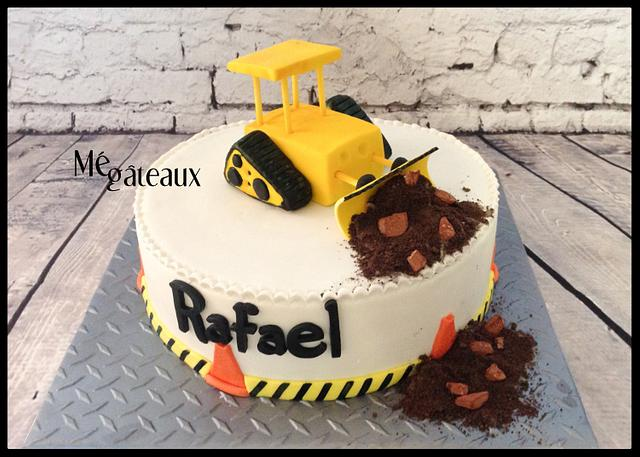 Awesome Bulldozer Cake Cake By Me Gateaux Cakesdecor Personalised Birthday Cards Beptaeletsinfo