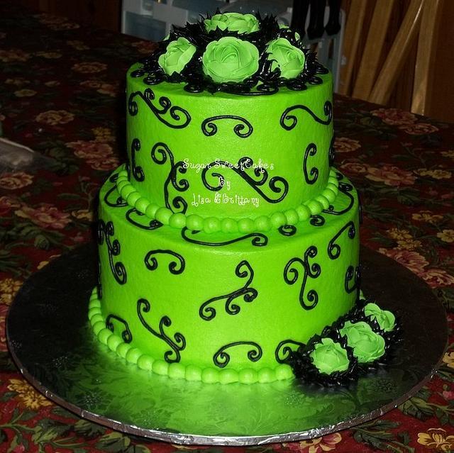 Lime Green & Black Wedding