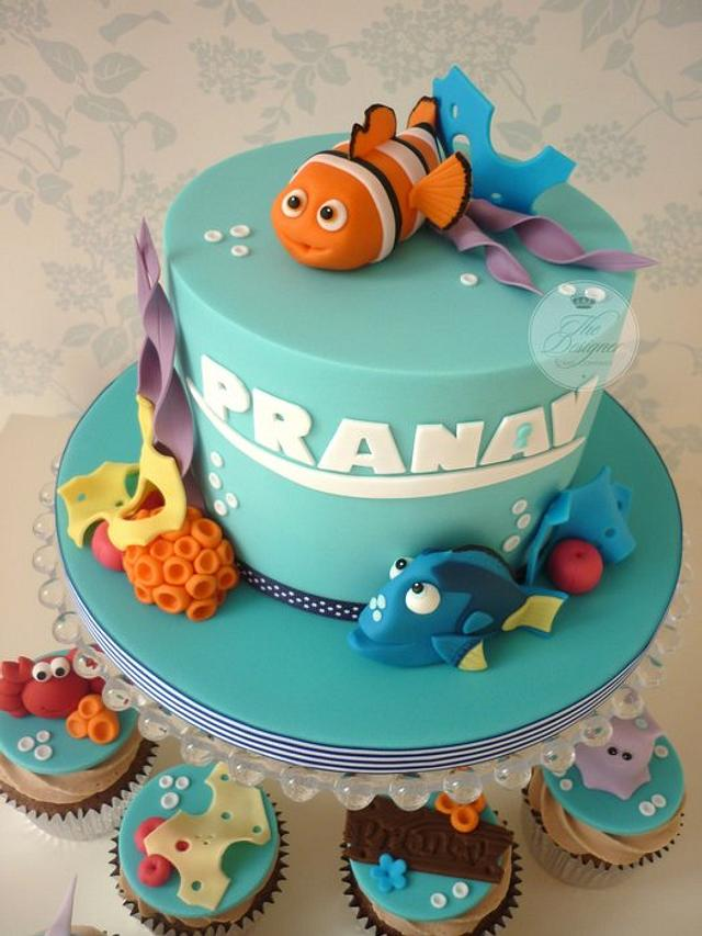 Surprising Finding Nemo Birthday Cake Cupcakes Cake By Isabelle Cakesdecor Funny Birthday Cards Online Inifodamsfinfo