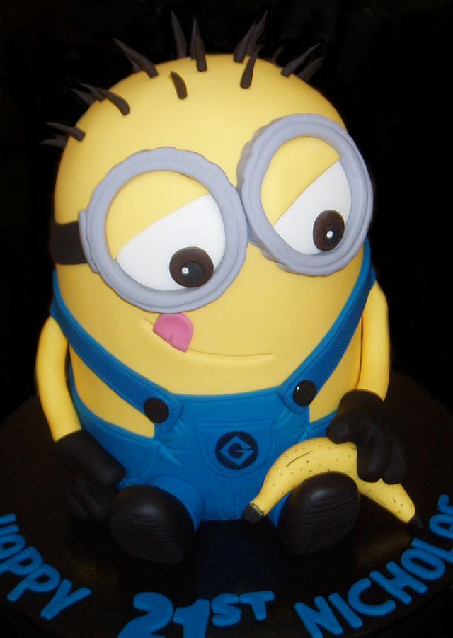 Outstanding 3D Minion Birthday Cakes Cake By Nada Cakesdecor Funny Birthday Cards Online Alyptdamsfinfo