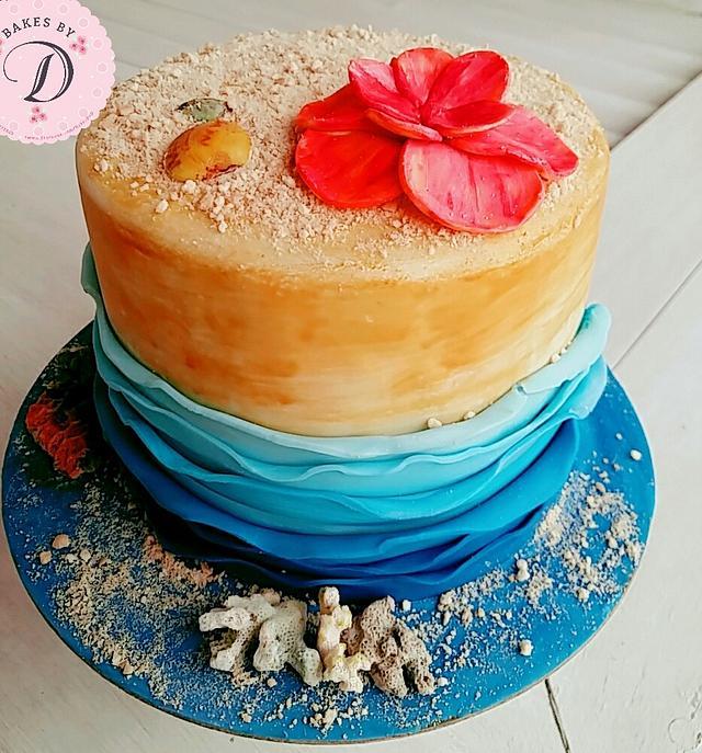 Sea themed cake