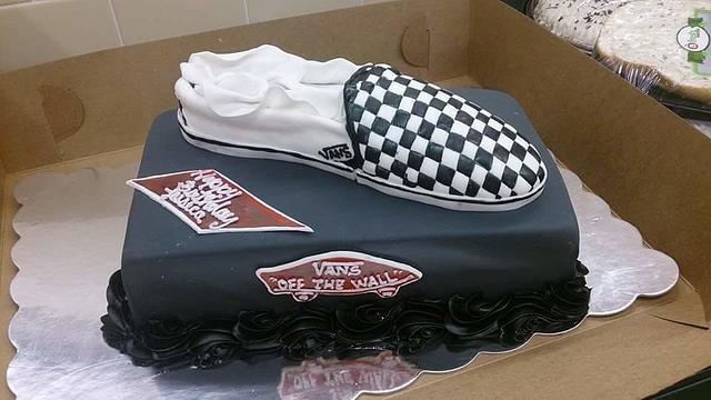 Vans Checkered Shoe Cake