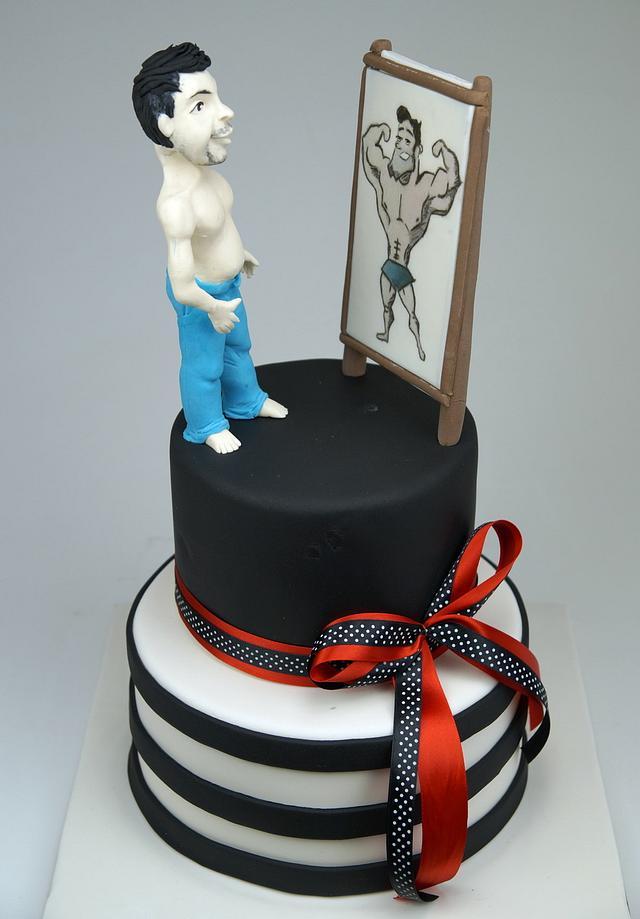 Bodybuilder Cake