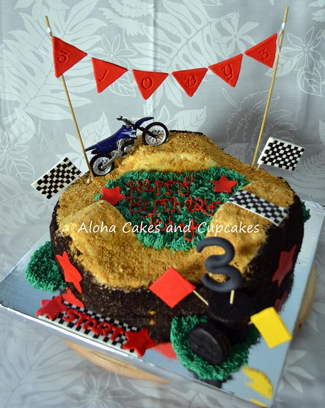 Pleasant Dirt Bike Themed Birthday Cake By Sarah Scott Cakesdecor Funny Birthday Cards Online Overcheapnameinfo