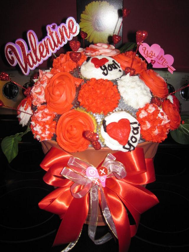Valentine's Day Cupcake Bouquet!