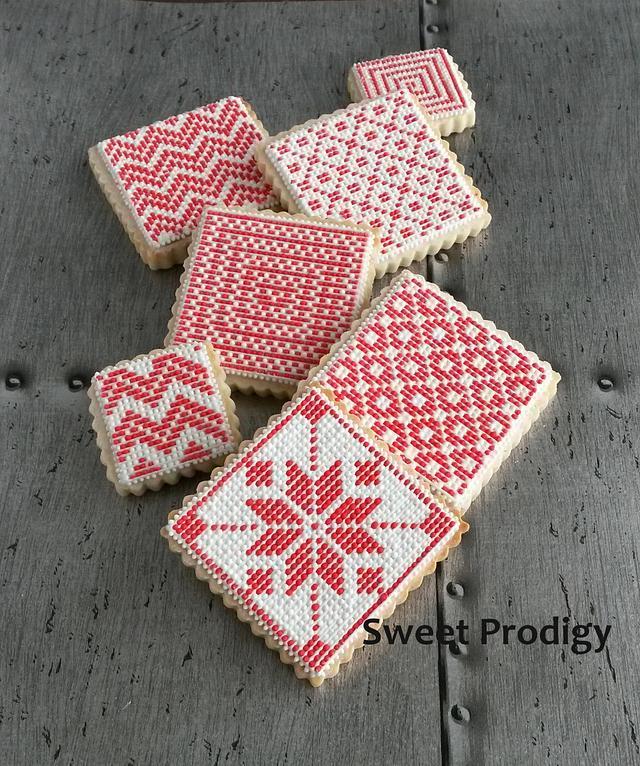 Nordic Needlepoint Cookies | Sweet Prodigy