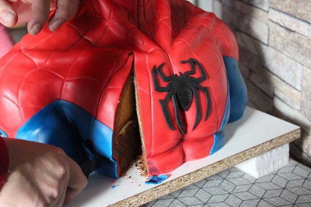SPIDERMAN BUST CAKE