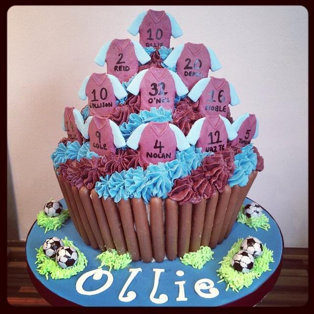West Ham Giant Cupcake