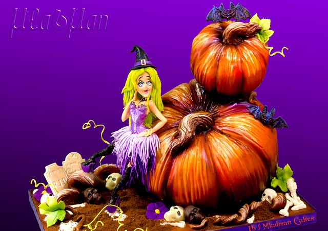 Halloween witch glamour cake