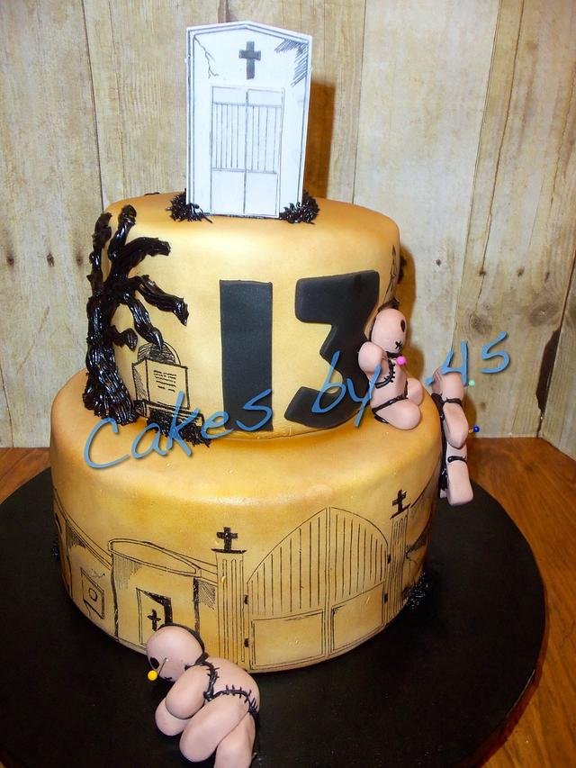 13th Birthday Voodoo Cake