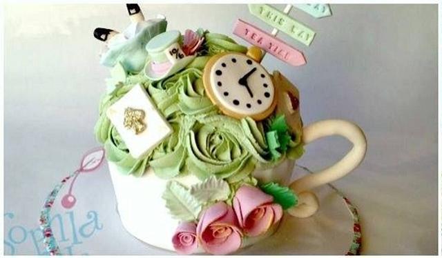 Vintage Alice In Wonderland Giant Cupcake