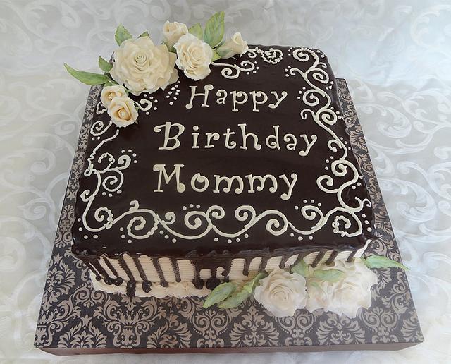 Chocolate Ganache Drizzle Birthday Cake