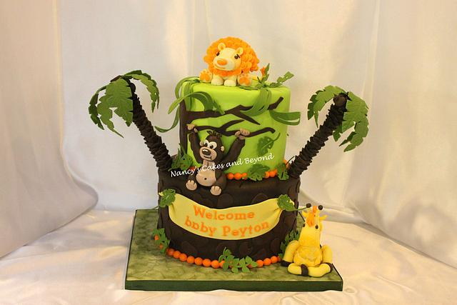 Funfari Jungle Themed Baby Shower Cake
