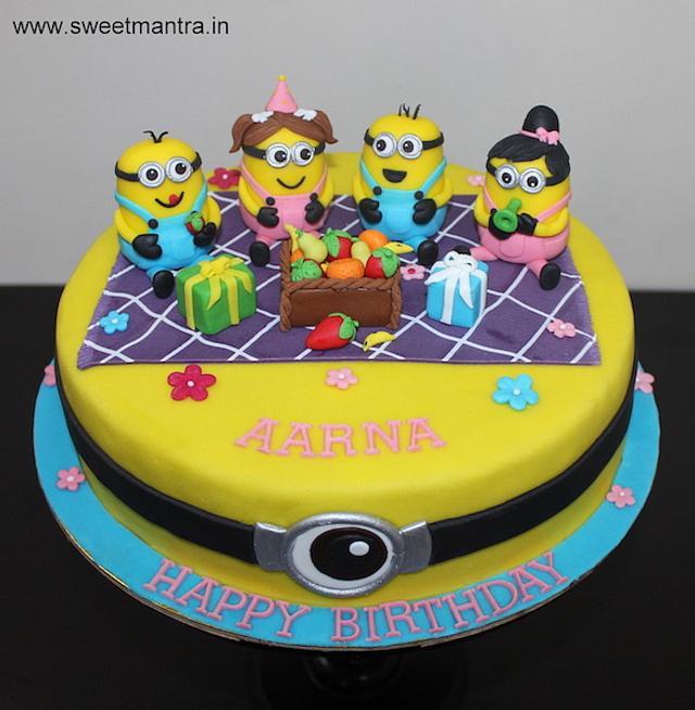 Wondrous Minions In A Party Theme Customized Birthday Cake For Cakesdecor Birthday Cards Printable Giouspongecafe Filternl