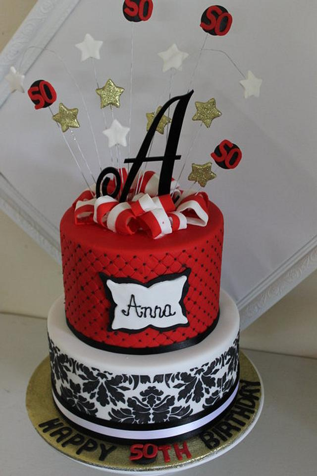 Miraculous Red Black And White Birthday Cake Cake By Kathy Cope Cakesdecor Funny Birthday Cards Online Inifodamsfinfo