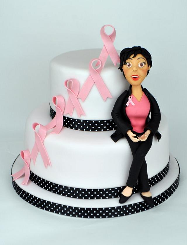 Surprising Breast Cancer Cake Cake By Sue Butterworth Cakesdecor Personalised Birthday Cards Beptaeletsinfo