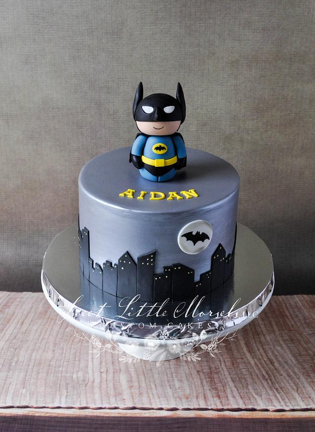 Fine Batman Birthday Cake Cake By Stephanie Cakesdecor Personalised Birthday Cards Veneteletsinfo