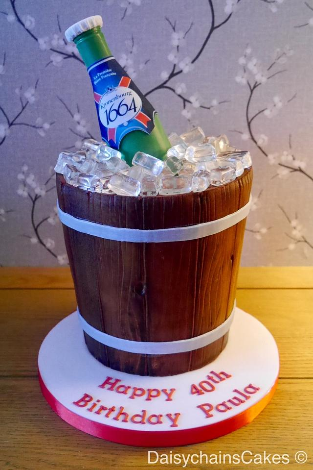Kronenbourg bottle cake