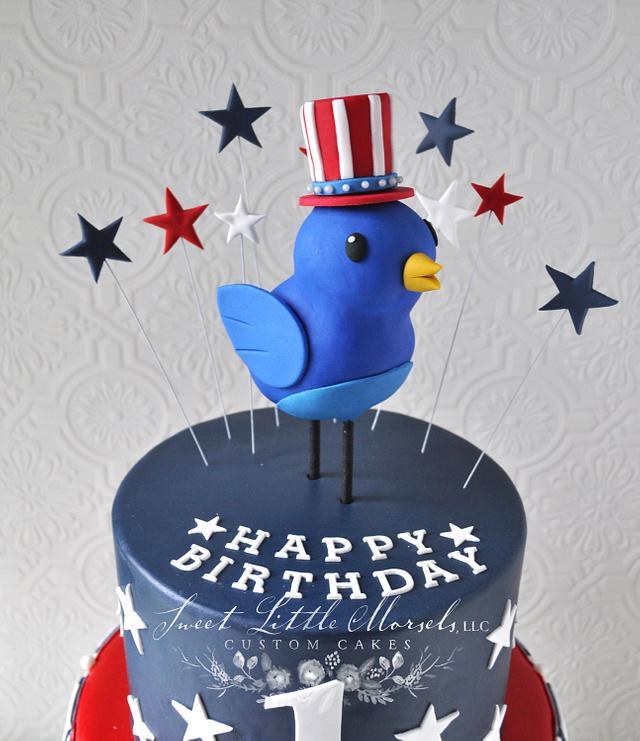 Patriotic 1st Birthday Cake