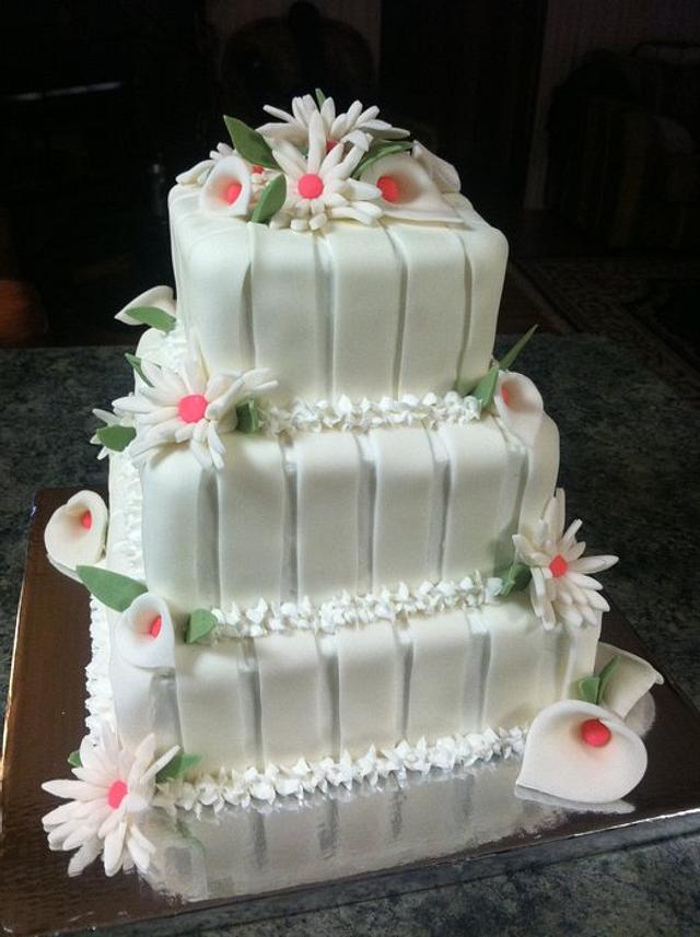 Calla Lilly Wedding shower cake
