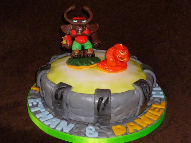 Enjoyable Skylanders Giants Birthday Cake Cake By Simply Baked Cakesdecor Funny Birthday Cards Online Inifofree Goldxyz