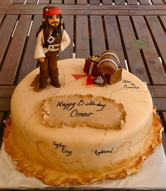 Pleasant Pirates Of The Caribbean Cake By Nedas Cakes Cakesdecor Funny Birthday Cards Online Aeocydamsfinfo