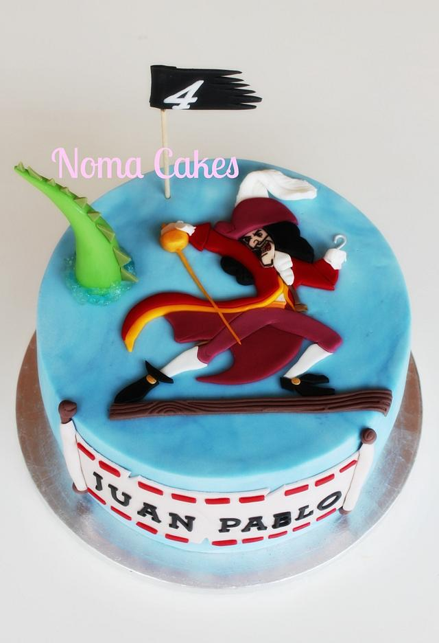 Strange Tarta Capitan Garfio Captain Hook Cake Cake By Silvia Cakesdecor Personalised Birthday Cards Arneslily Jamesorg
