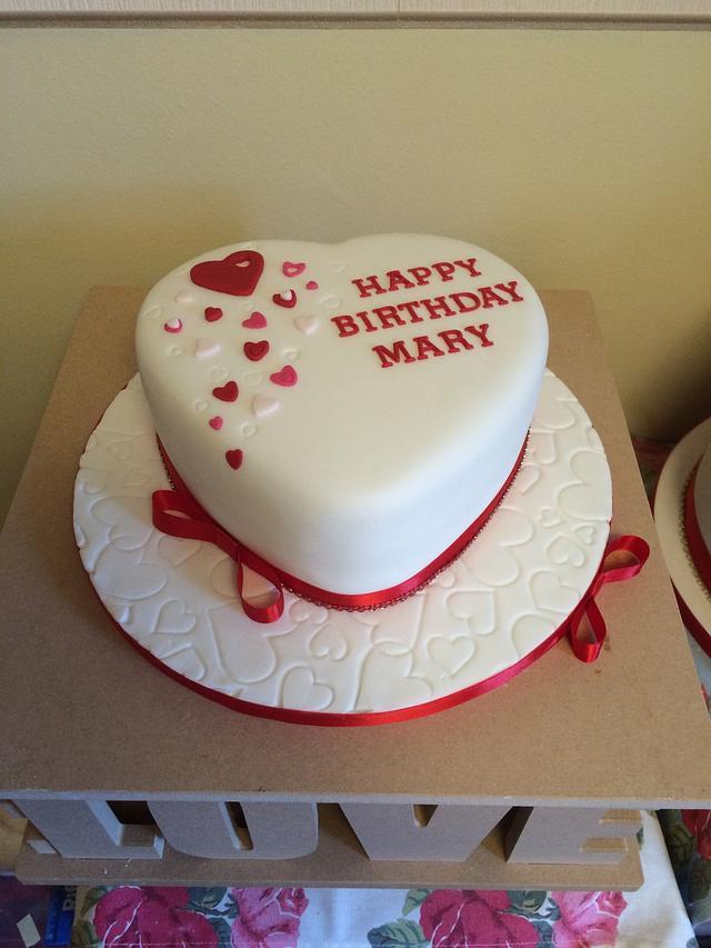 Phenomenal Heart Shaped Cake 50Th Birthday Cake By Little Cs Cakesdecor Funny Birthday Cards Online Fluifree Goldxyz