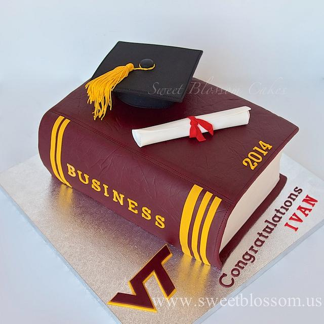 Virginia Tech Graduation cake