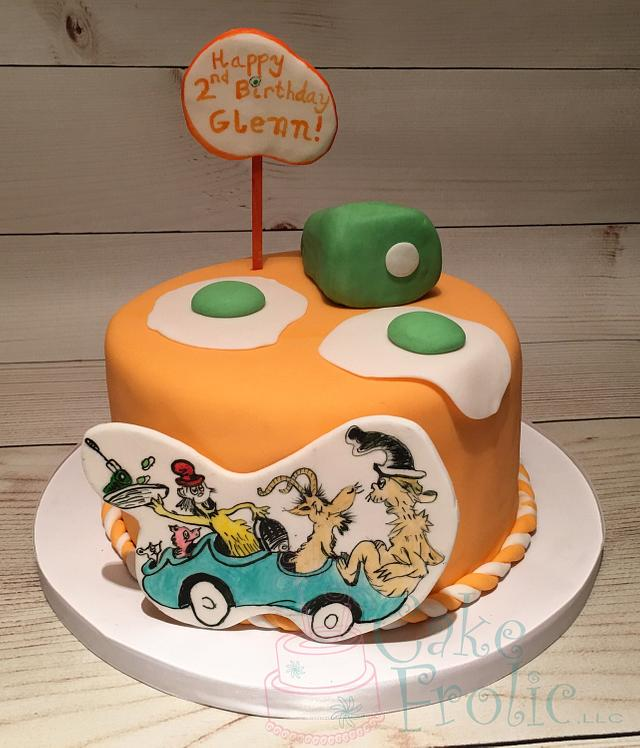 Green Eggs and Ham - cake by CakeFrolic - CakesDecor