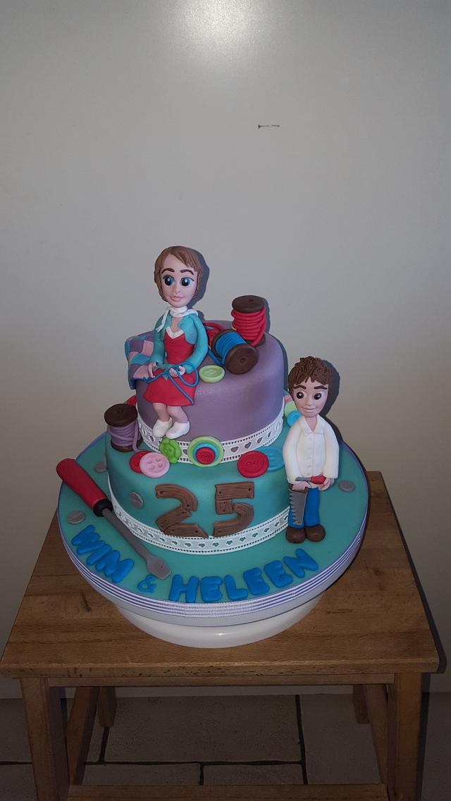 2 themed cake