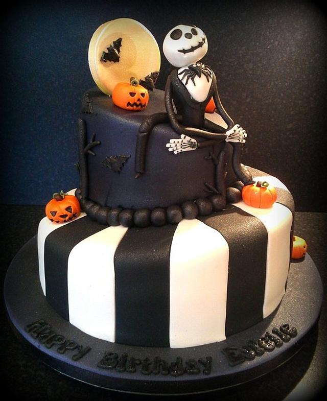 Prime Nightmare Before Christmas Birthday Cake Cake By Kelly Cakesdecor Funny Birthday Cards Online Elaedamsfinfo