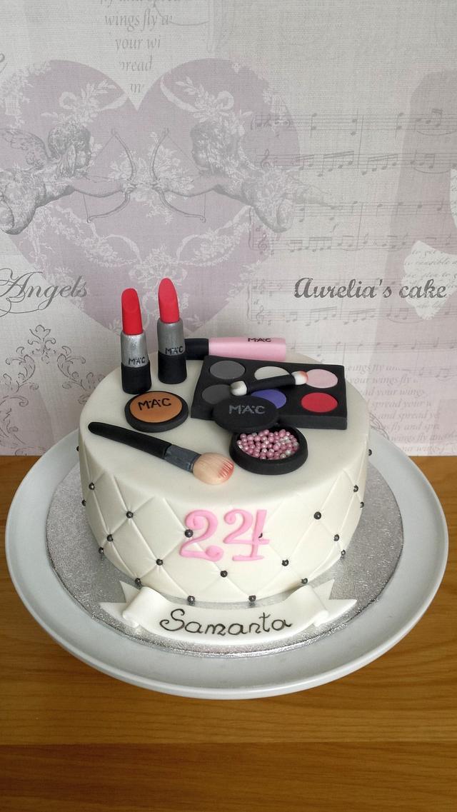 Excellent Mac Cosmetics Cake Cake By Aurelias Cake Cakesdecor Personalised Birthday Cards Sponlily Jamesorg