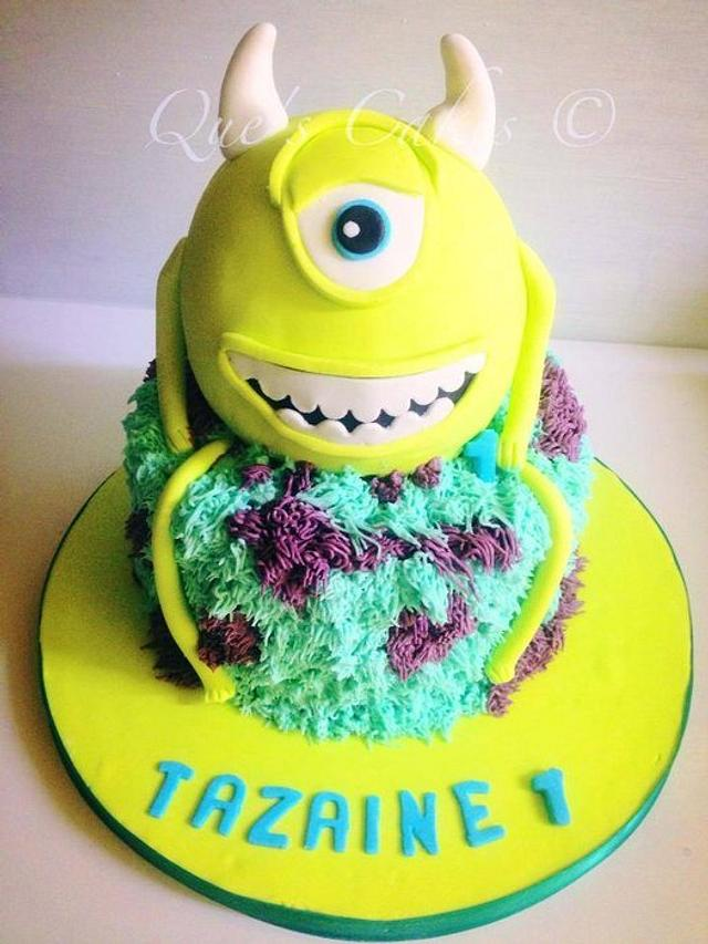 Monster Inc First Birthday Cake By Que S Cakes Cakesdecor