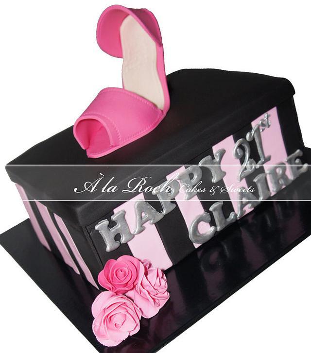 Stiletto Shoebox Cake