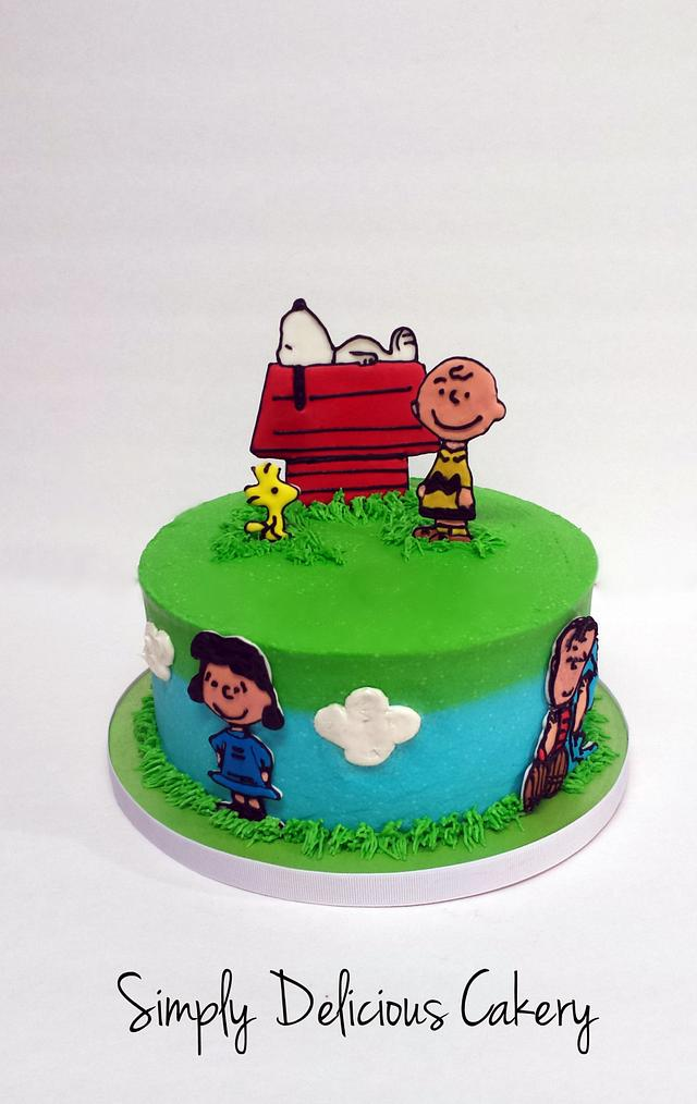 Terrific Charlie Brown 1St Birthday Cake By Simply Delicious Cakesdecor Personalised Birthday Cards Paralily Jamesorg