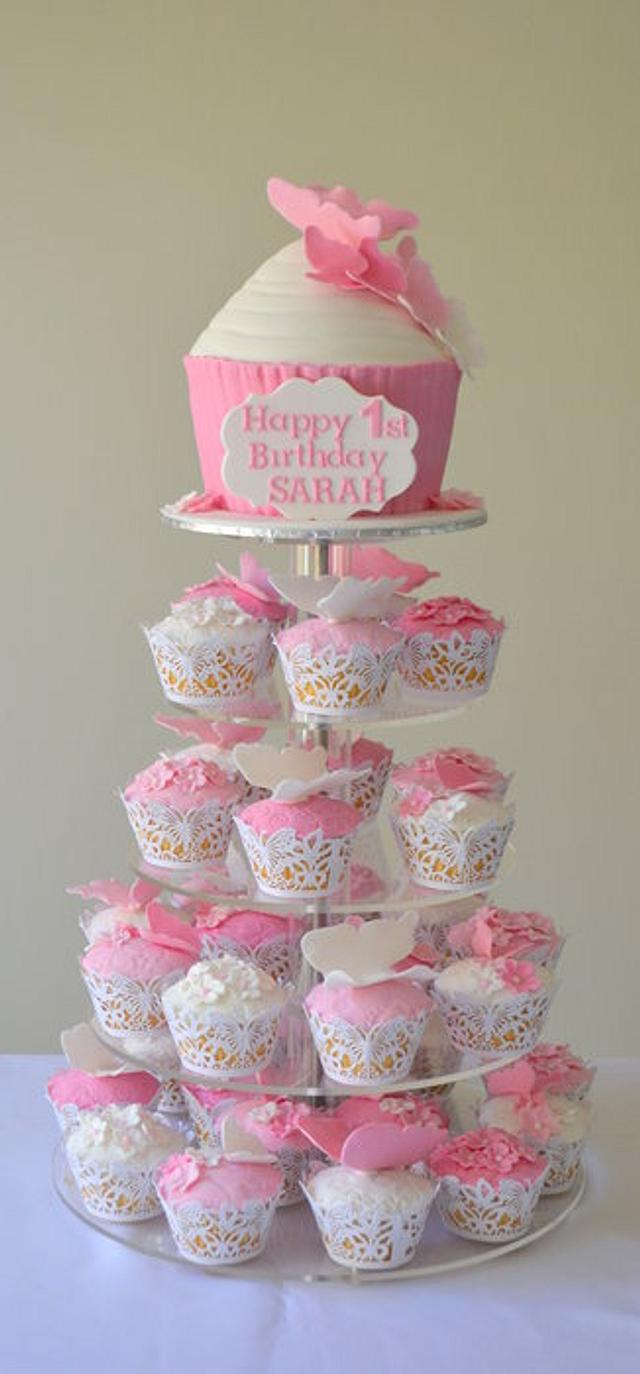 giant cupcake tower