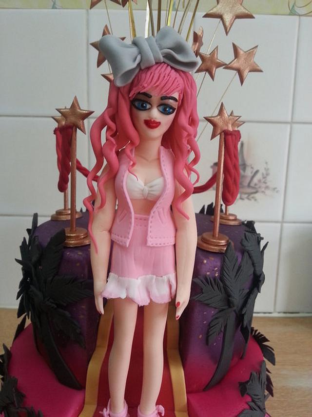 Movie Star Planet themed cake