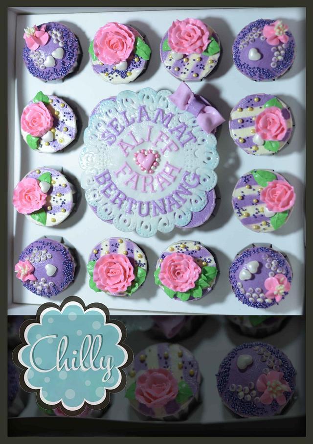 cuppies purple & pink butterceam