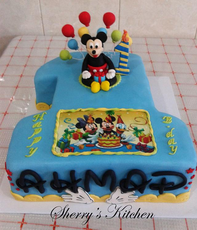 Excellent 1St Birthday Cake Mickey Mouse Cake By Elite Sweet Cakesdecor Personalised Birthday Cards Paralily Jamesorg