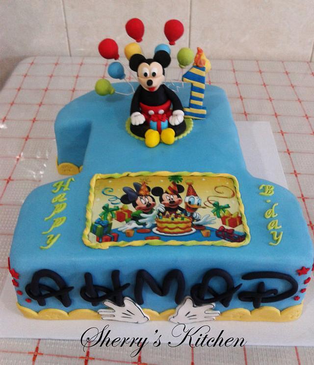 Phenomenal 1St Birthday Cake Mickey Mouse Cake By Elite Sweet Cakesdecor Birthday Cards Printable Opercafe Filternl