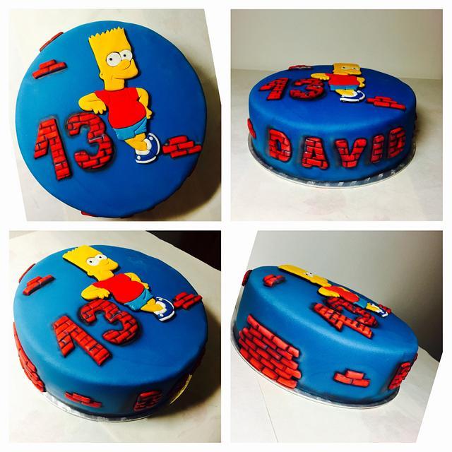 Wondrous Bart Simpson Cake Cake By Andrea Cakesdecor Personalised Birthday Cards Veneteletsinfo