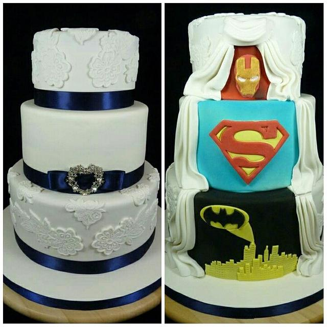Hidden Superhero Wedding Cake