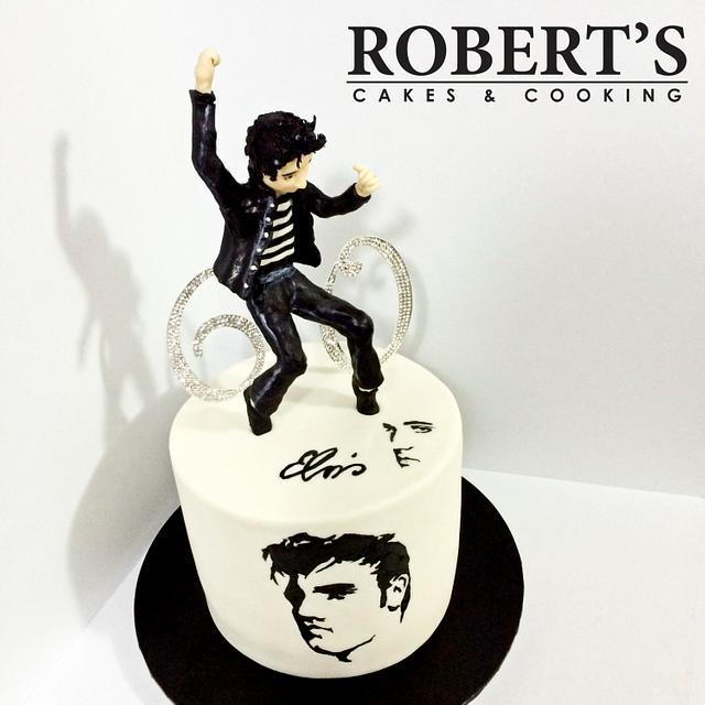 Elvis 60th cake