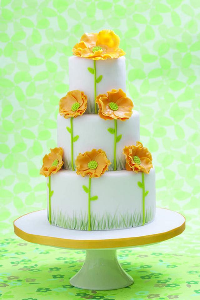 wedding yellow poppi