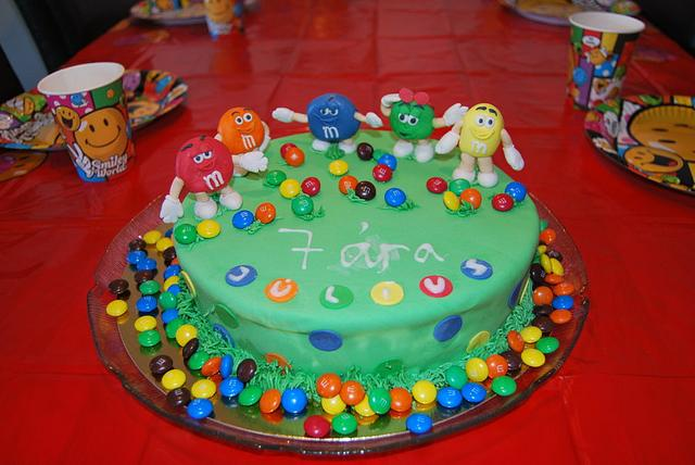 M&M themed birthday party