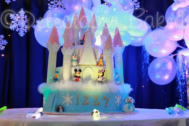 Winter Wonderland Castle Cake
