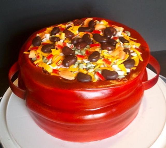 Chili Cook Off Cake